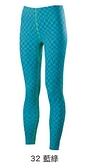 S~XL~零碼特價 [陽光樂活=] MIZUNO 美津濃 女路跑緊身褲 運動長褲 束褲 藍綠 格紋 J2TB573232