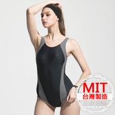 連身泳裝MIT台灣製造拼接泳衣美國杜邦萊卡【36-66-818103-18】ibella 艾貝拉