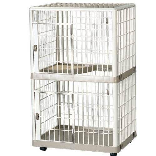 【培菓幸福寵物專營店】IRIS《雙層》抗菌貓籠662