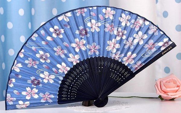 日式真絲櫻花 工藝和風絹扇12