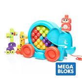 MEGA BLOKS 美高大象積木車 /費雪積木玩具