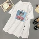短袖T 短袖t恤女年學生白色中長款春夏韓版大碼寬鬆ins潮上衣服 麗人印象 全館免運