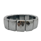 鉑麗星太赫茲 霸氣菱格切面手排/手鍊【大】1條- 太赫茲能量石波動提升磁場氣場平安手環