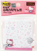 【金玉堂文具】Hello Kitty 凱蒂貓-KITTY Notes-4利貼便條紙-可愛梳妝組 3M限量商品-654-WP