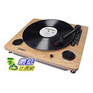 [8美國直購] 唱片播放盤ION Audio Archive LP | Digital Conversion Turntable with Built-In Stereo Speakers