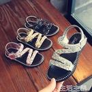 兒童涼鞋 公主鞋夏季新款韓版兒童露趾羅馬鞋中大童亮片沙灘鞋 生活主義