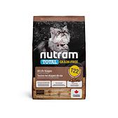 寵物家族-[輸入NT99享9折]紐頓Nutram-T22無穀貓火雞2KG