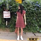 短袖連身裙 短袖裙子仙女超仙森系春季2021年新款氣質少女桔梗法式連身裙女夏 榮耀3C