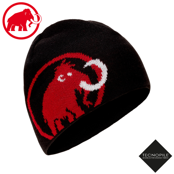 【MAMMUT 長毛象 Tweak Beanie 雙層針織保暖羊毛帽《黑/速克達》】1191-01352/毛線帽/禦寒帽/登山