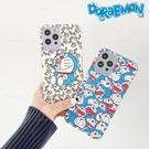 日系可愛卡通藍胖子iphone 12 11 Pro Xs Max XR SE i8 i7Plus鏡頭全包防摔小羊皮手機殼