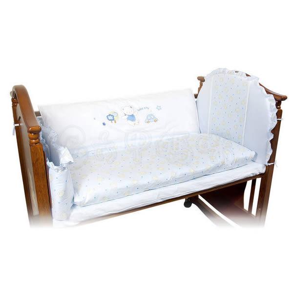 寶貝熊六件組M 兩色可選 嬰兒床寢具【六甲媽咪】