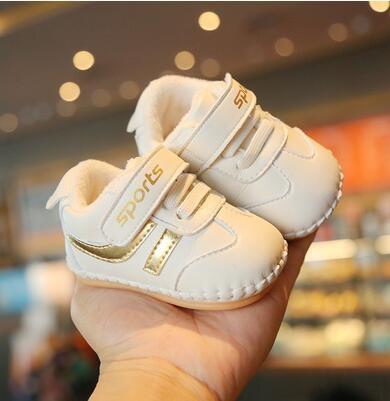 學步鞋 冬季0一1歲女寶寶棉鞋3-8-10個月幼兒軟底學步鞋男童二真皮不掉【快速出貨八折搶購】