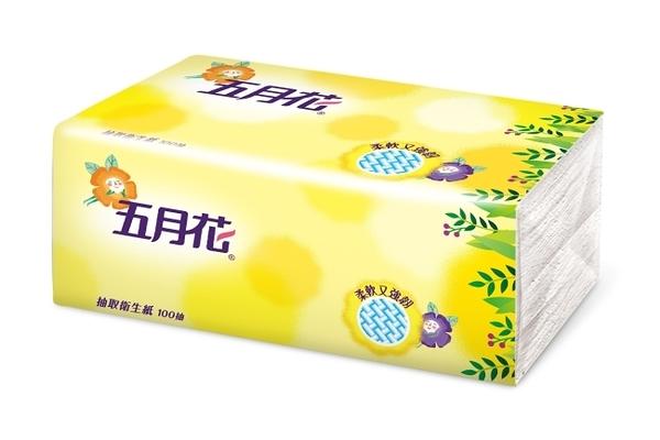五月花新柔韌抽取式衛生紙100抽*1包-花園限定版單包