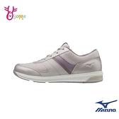 Mizuno健走鞋 女鞋 大童 YOUDO ME 運動鞋 休閒鞋 網布透氣 美津濃 I9258#紫色◆OSOME奧森鞋業