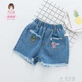 女童牛仔短褲新款韓版夏季1歲3純棉童褲嬰兒童褲子寶寶打底褲    俏女孩