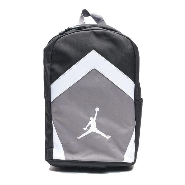 NIKE AIR JORDAN 黑灰白 小後背包布 運動 休閒 後背包 (布魯克林) 8A0262-023