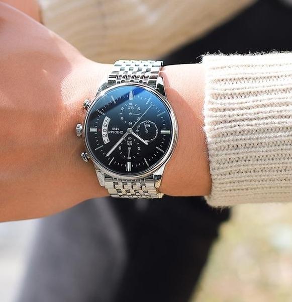 機械手錶 新款概念全自動機械表韓版潮流學生鋼帶手錶男士石英防水男表  維多