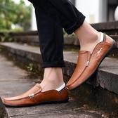 豆豆鞋2020豆豆鞋男真皮春季男鞋子男士休閒鞋皮鞋男懶人韓版百搭 夏季新品