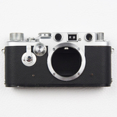 (BEAGLE) 真皮相機專用貼皮/相機蒙皮 Leica IIIf - 現貨供應 - 黑/駝色(可訂製其他顏色)