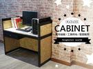 辦公桌♞空間特工♞(長4尺x深2x高3.5,含抽屜、OSB封板) 消光黑 免螺絲角鋼桌 書桌 電腦桌 A款