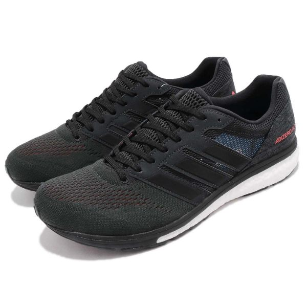 adidas 慢跑鞋 Adizero Boston 7 黑 紅 BOOST 中底 男鞋 運動鞋 【PUMP306】 BB6538
