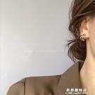 韓版氣質耳釘2020新款潮耳環女網紅簡約冷淡風高級感法式復古耳飾【果果新品】