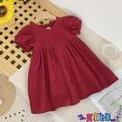 兒童連身裙 2021夏季新款女童潮流連身裙泡泡袖韓版女孩時尚公主連身裙子 618狂歡