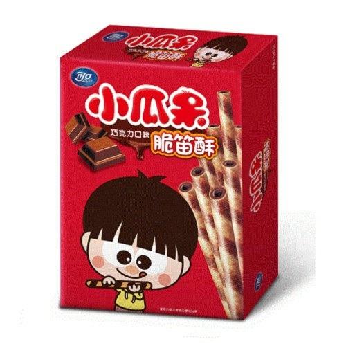 可口 小瓜呆 脆笛酥-巧克力口味 80g/盒【康鄰超市】