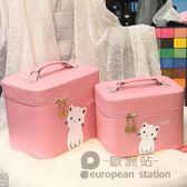 化妝包/便攜手提大容量方形化妝箱防水收納包「歐洲站」