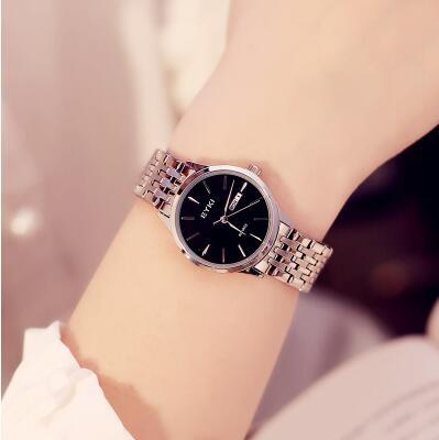 手錶女學生時尚潮流韓版情侶一對鋼帶防水石英女士手錶