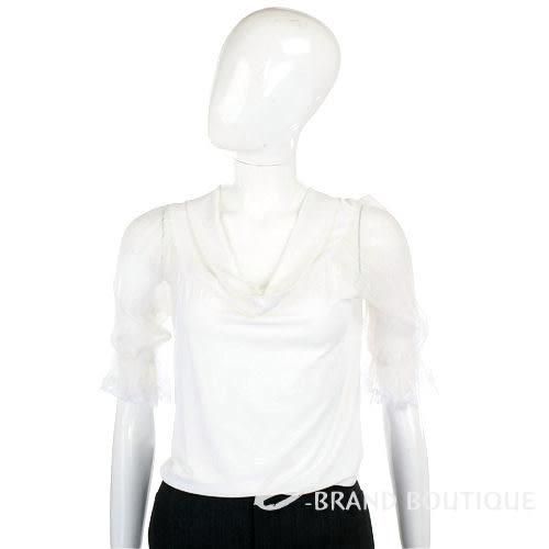SCERVINO 白色紗質袖上衣 0920268-20