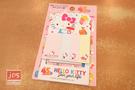 Hello Kitty 凱蒂貓 便條貼 便條紙 磁鐵書夾 45週年 食物 粉 963411