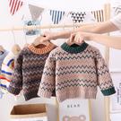 兒童毛衣套頭2019新款加絨加厚秋冬款女童男童寶寶針織打底衫洋氣