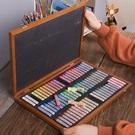 韓國盟友色粉筆72色木盒顏料彩繪色粉手繪畫畫套裝粉彩棒畫筆美術用品工具 小山好物