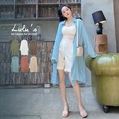 LULUS【A01200254】M後壓摺長版襯衫6色