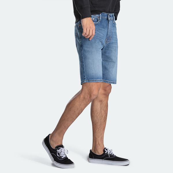 Levis 男款 505寬鬆直筒牛仔短褲 / 復古水洗 / 彈性布料