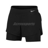 Nike 短褲 Eclipse 2-in-1 Running Shorts 黑 女款 慢跑褲 二合一 跑步 運動 【ACS】 AQ5421-010