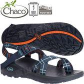 Chaco ZLM02_HF32碎末海軍藍 男越野紓壓涼鞋-Z/Cloud 2 夾腳款運動鞋/佳扣水陸兩用鞋/沙灘拖鞋