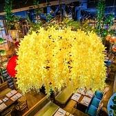 吊燈 音樂餐廳黃色植物裝飾清吧咖啡店西餐廳鳥籠 【現貨快出】YJT