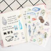 和紙 貼紙 廚房裡 創意 學生 手賬本 裝飾 貼畫 6張入