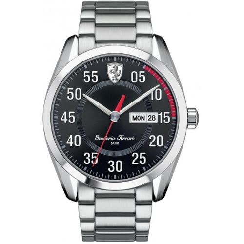 FERRARI Formula Italia 分秒必爭大三針時尚腕錶/0830180