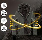 秋冬新款男士衛衣 韓版連帽加厚加絨外套 搖粒絨抓絨衣服 休閑男裝開衫外套 時尚冬季保暖衣服