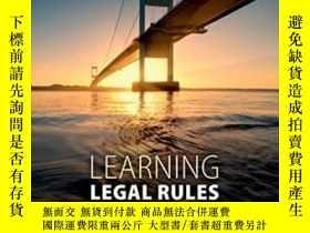 二手書博民逛書店Learning罕見Legal Rules: A Student