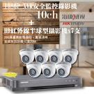 屏東監視器/200萬1080P-TVI/套裝組合【8路監視器+200萬半球型攝影機*7支】DIY組合優惠價
