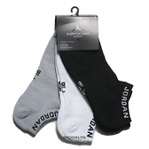 NIKE 短襪 JORDAN JUMPMAN NO SHOW 三雙組 黑白灰 踝襪 襪子 男 (布魯克林) SX5546-018