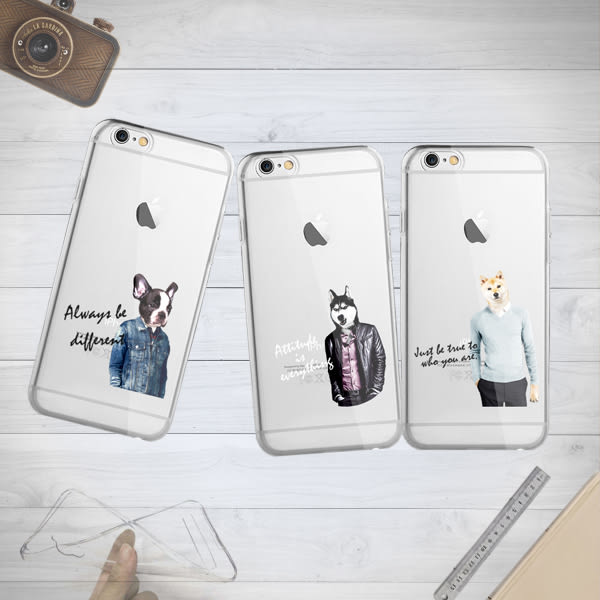iPhone 7 4.7 / iPhone 8 4.7 客製化手機殼 原創 法鬥 哈士奇 柴犬 潮殼 浮雕 空壓殼 TPU 彩繪軟殼