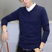 新款毛衫修身V領打底衫薄款毛線衣針織衫