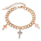 【5折超值價】十字架鈦鋼手鍊時尚流行款復古鈦鋼手鍊