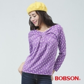 BOBSON 女款前中抽皺上衣(33075-62)