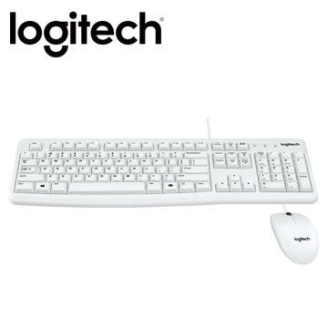 羅技 MK120 有線鍵盤滑鼠組-白色